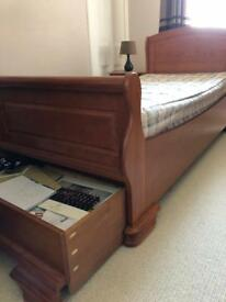 Single Sleigh Bed with Storage drawer