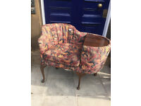 Retro upholstered telephone seat/table . Size L 38in D 24in H 33in. Free local delivery.