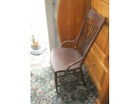 ANTIQUE PAINTED ORNATE FARMHOUSE RUSTIC CHAIR. VIEWING / DELIVERY AVAILABLE