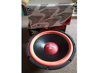 "Pair of 300 Watt, 12"" Subwoofer Sub, 25hz-2kHz"