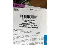 2 Script tickets Standing 19th Feb Newcastle