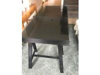 Black IKEA Trestle Desk Table