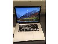 """pple MacBook Pro 15"""" 2.2ghz i7 quad, 8gb ram, 500gb hard drive, Radeon 6750"""
