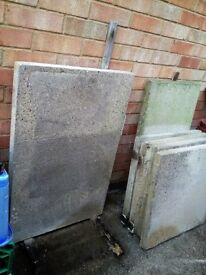 6 X Concrete Paving Slabs