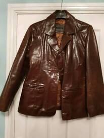 Aviatrix brown leather jacket