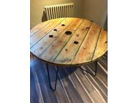 Industrial style hand made wooden tables