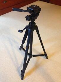 "Camera tripod - height 21.5"" to 58"""
