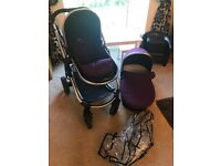 Icandy strawberry carrycot and pram
