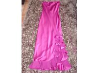 Monsoon UK Size 10. Dark Pink Satin fully lined Dress.