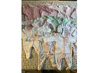 Newborn girls sleepsuits bundle
