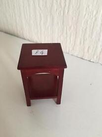 Single bedside table for DOLLS HOUSE 1:12 scale