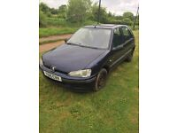Peugeot 106 5 door Zest. spares or repairs. 79000 miles only. mot Jan 18