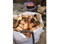Logs and kindling for sale
