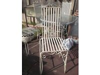 four metal (iron) garden chairs