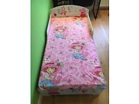 Lovely peppa pig toddler bed with mattress