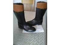Clarks leather boots size 5.5.