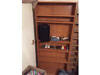Wooden Bookshelf 180x74x20