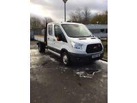 2015 65 ford transit crew cab tipper