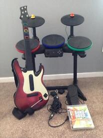 PlayStation 3 guitar band hero game
