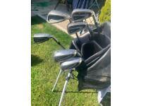 Nike sumo golf irons and Wilson bag