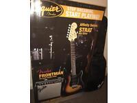 Reduced!!! Squier affinity series starter guitar starter kit