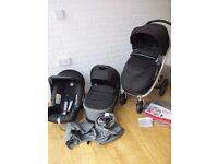 Britax Affinity pram pushchair with car seat 3 in 1 Black / grey CAN POST