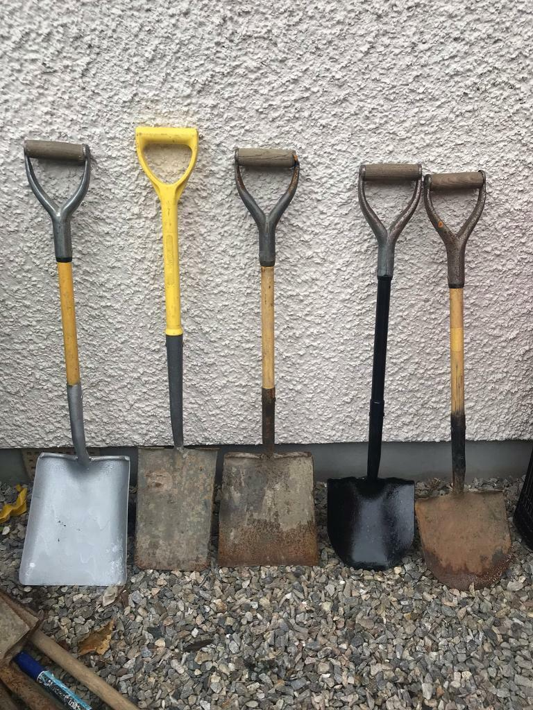 Garden Hand Tools Square Round Mouth Shovel Spade In Inverness
