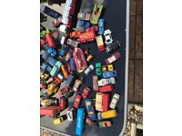 assortment of dinky cars