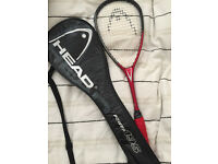 Men's Head Power 195 Constant Beam Graphite Squash Racket With Full Head Cover