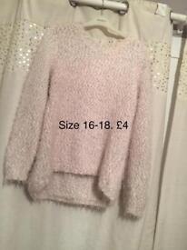 Fluffy pink jumper