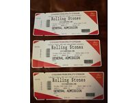 Rolling Stones concert, Cardiff, 15th June. Two tickets. Standing. Less than face value £150.