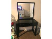 Dressing Table with large mirror attached and stool