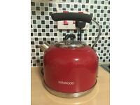 Red Kenwood kettle and Red Swan toaster