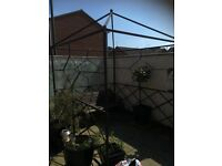 Hand made solid metal gazebo