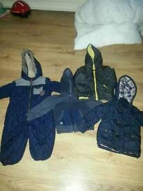 2 coats and 1 jacket 12-18 months (one with yellow hood is sold)
