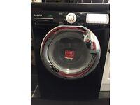 Black Hoover washing machine needs attention