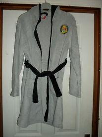 Simpsons fleece dressing gown with hood