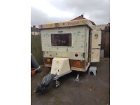 Rare Vintage gobur Folding caravan in amazing condition for age comes with extras