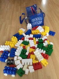 Large bag of Mega Bloks Bricks