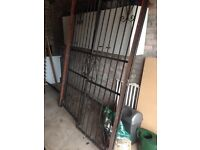 Wrought iron gates pair for 1.6m opening 2.2 m high.