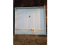 White Alluminium Garage Door - up and over style