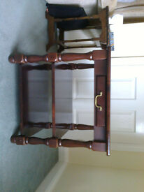 Mahogany side table/telephone stand