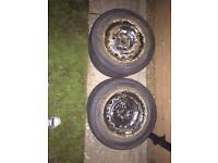 4x100 steel wheels(winter wheels) with decent tread