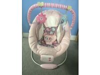 Comfort and Harmony baby bouncy chair.