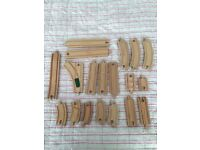 19 piece brio wooden train track set.points. Traditional toys.