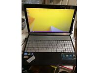 """asus N55S intel core i5-2450m @ 2.50ghz (640gb,4gb) 15.6"""" screen with camera & hdmi"""