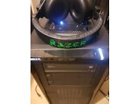 Gaming pc intel i7 6700k 16gb DDR4,SSD+HDD,GTX 970 ,Razer Headset,Monitor