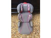 Graco Booster Seat - Grey & Pink