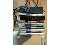 Xbox 360 + wireless network adapter + 9 games