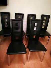 6 used Julian Browen leather chairs